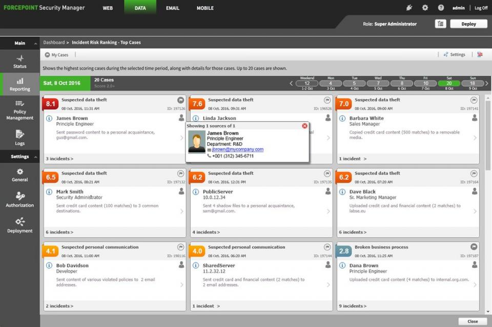 Forcepoint Data Loss Prevention (DLP)   GuardSense com